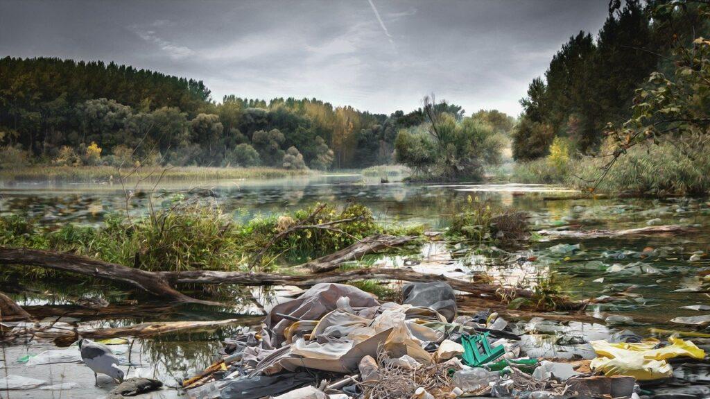Plastik in Gewässer